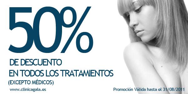 Promoción 50% hasta el 31/08/201