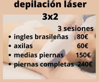 depilación láser 3x2